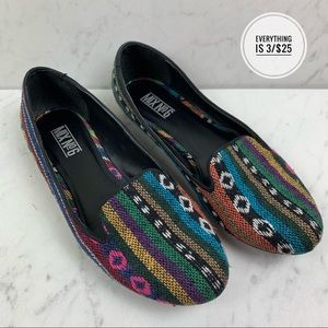 Mix No. 6 Multicolored Striped Slide Ons Size 8